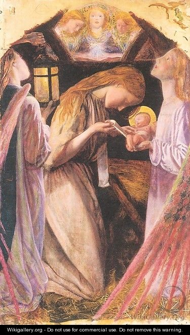 The Nativity (detail) - Arthur Hughes