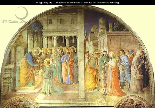 Ordination of St. Stephen by St. Peter - Angelico Fra