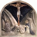 Crucifixion with Mary and St. Dominic, Golgathaberg and skull Adams - Angelico Fra