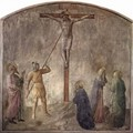 Crucifixion with Lanzen Bite of the captain Longinus - Angelico Fra