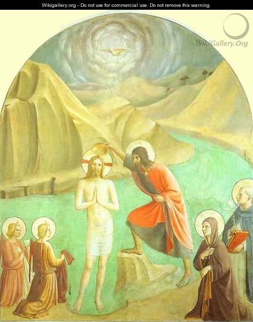 Baptism of Christ - Angelico Fra