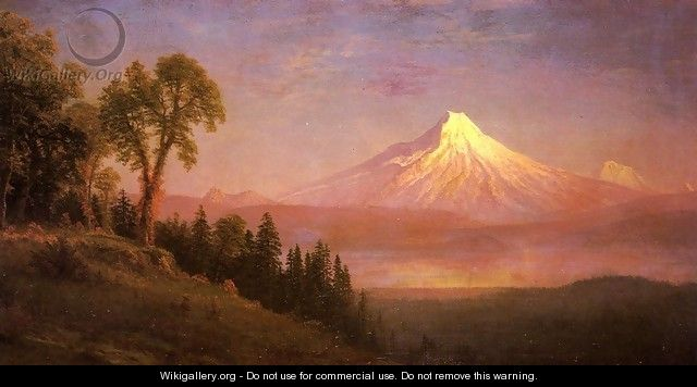 Mount St. Helens, Columbia River, Oregon - Albert Bierstadt