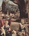 Throne end of Madonna and Johannes of the Taeufer, Hl. Josef and Hl. Anna, Hl. Elizabeth and Hl. Zacharias, - Vittore Carpaccio