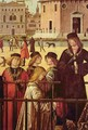 The arrival of the British envoy at the court of King Brittany, detail - Vittore Carpaccio