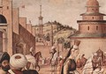 Baptism of infidels by St. George, detail 3 - Vittore Carpaccio