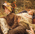 The Garden Bench (detail) - James Jacques Joseph Tissot
