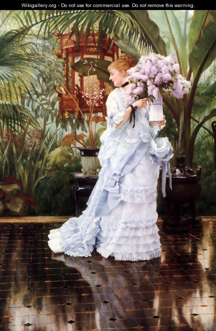 The Bunch of Lilacs - James Jacques Joseph Tissot