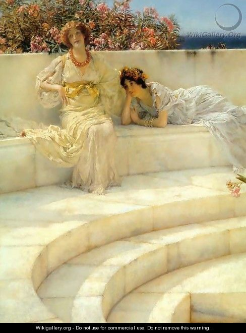 Under the Roof of Blue Ionian Weather (detail) - Sir Lawrence Alma-Tadema