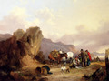 Fisherfolk Sorting The Catch - William Joseph Shayer