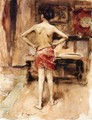 The Model, Interior with Standing Figure - John Singer Sargent