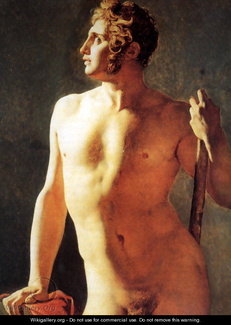 Study of a Male Nude - Jean Auguste Dominique Ingres