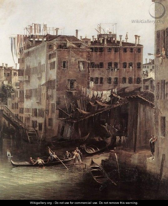 The Rio dei Mendicanti (detail) - (Giovanni Antonio Canal) Canaletto