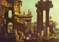 Ruins of a Temple - (Giovanni Antonio Canal) Canaletto