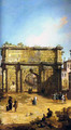 Rome, The Arch of Septimius Severus - (Giovanni Antonio Canal) Canaletto
