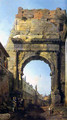 Rome The Arch of Titus - (Giovanni Antonio Canal) Canaletto