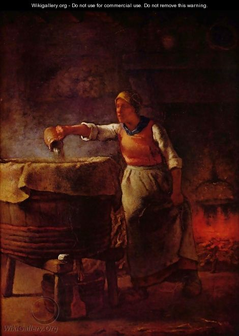 Laundress - Jean-Francois Millet