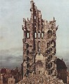 View of Dresden, the ruins of the Cross Church, seen from the east, detail - (Giovanni Antonio Canal) Canaletto