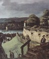 View from Pirna, from the sun-stone fortress of view, detail - (Giovanni Antonio Canal) Canaletto