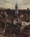 The village Gazzada, View from the south (Vedute of Gazzada), detail - (Giovanni Antonio Canal) Canaletto