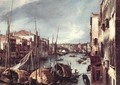 The Grand Canal with the Rialto Bridge in the Background (detail) - (Giovanni Antonio Canal) Canaletto