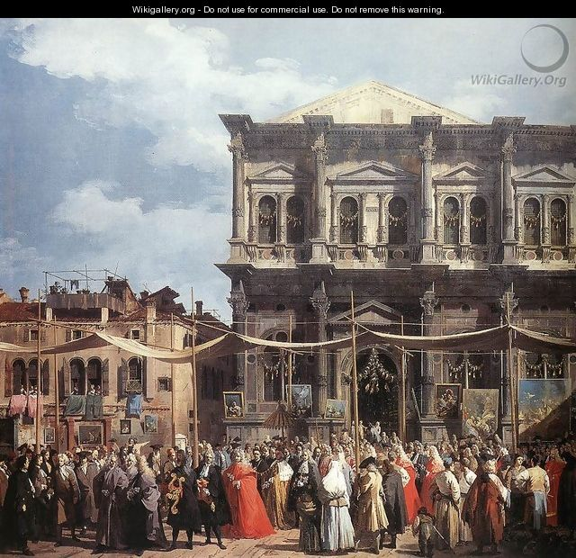 The Feast Day of St Roch (detail) - (Giovanni Antonio Canal) Canaletto