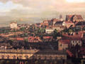 View on Warsaw from Royal Castle fragment - (Giovanni Antonio Canal) Canaletto