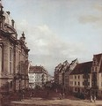 View of Dresden, the Frauenkirche - (Giovanni Antonio Canal) Canaletto