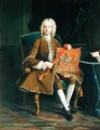 John Hervey Baron Hervey of Ickworth 1696-1743 Holding the Purse of Office as Lord Privy Seal 1741 - Jean Baptiste van Loo