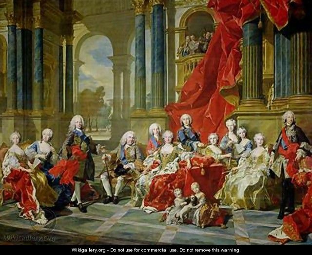 The Family of Philip V 1743 - Louis Michel van Loo