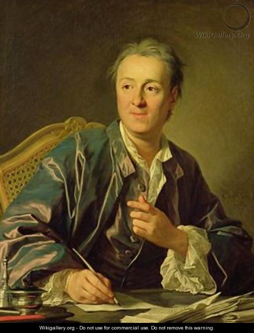 Portrait of Denis Diderot 1713-84 1767 - Louis Michel van Loo