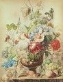 Still Life with Flowers and Fruit - Pieter van Loo