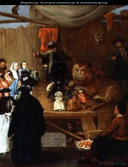 The Lions Cage as seen in Venice in the Carnival of 1765 2 - Pietro Longhi