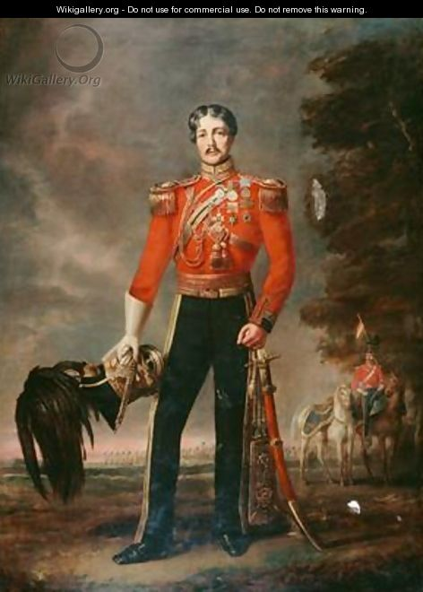 Lieutenant Colonel George James Mouat MacDowell 16th Regiment of Light Dragoons 1848 - Edwin Longsden Long
