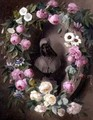 Garland with Roses and Passion Flowers Around a Bust of a Saint - Henrietta de Longchamp