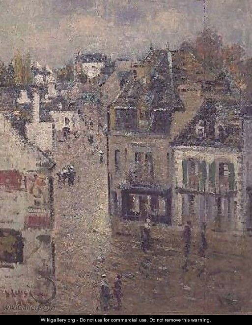 Street in Pont Aven after the Rain - Gustave Loiseau