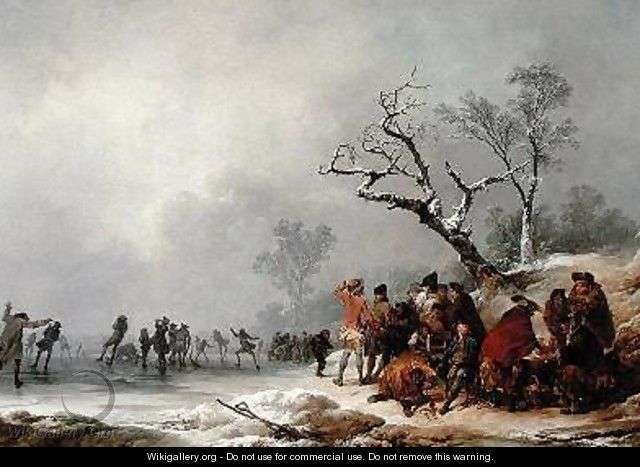 A Winter Morning with Skating in Hyde Park 1776 - Philip Jacques de Loutherbourg