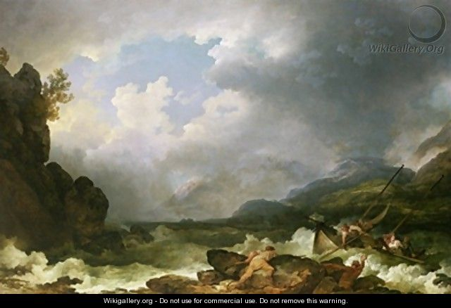 Belle Isle Windermere in a Storm - Philip Jacques de Loutherbourg