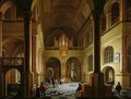 The Interior of a Protestant Church at Night - Anthonie De Lorme