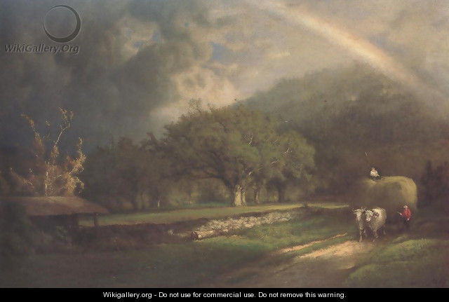 The Rainbow In The Berkshire Hills 1869 - George Inness