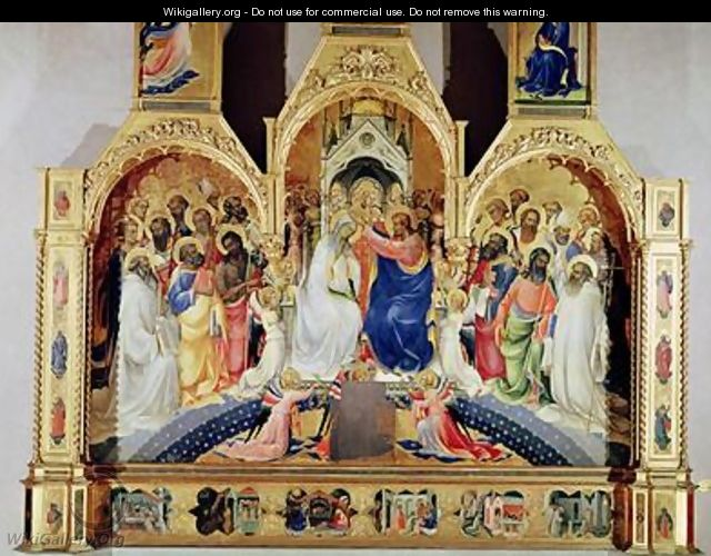 The Coronation of the Virgin - Fra (Guido di Pietro) Angelico