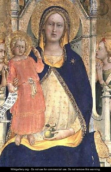Madonna and Child enthroned with Saints - Fra (Guido di Pietro) Angelico