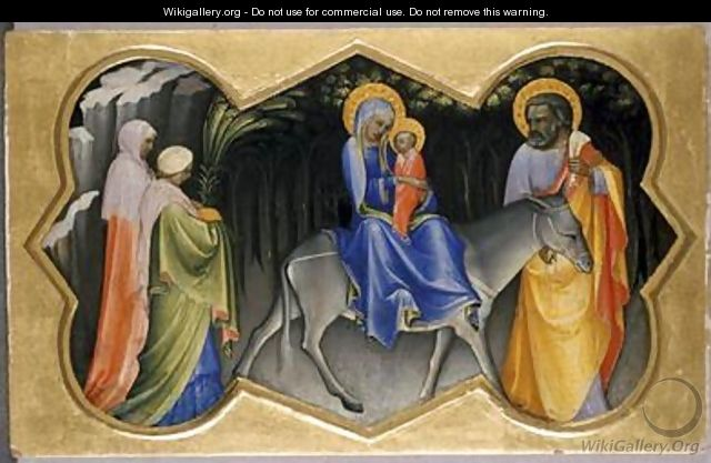 The Flight into Egypt 1405 - Fra (Guido di Pietro) Angelico