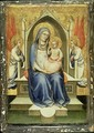 Madonna Enthroned between Two Adoring Angels - Fra (Guido di Pietro) Angelico