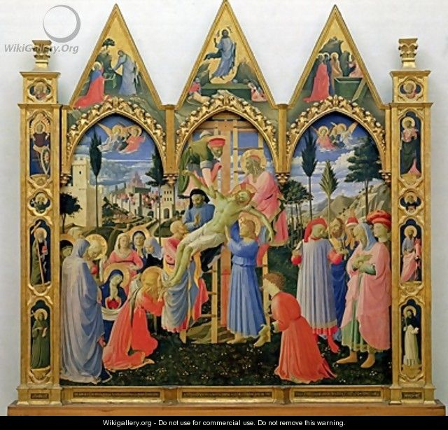 Santa Trinita Altarpiece frame and pinnacles by Lorenzo Monaco - Fra (Guido di Pietro) Angelico