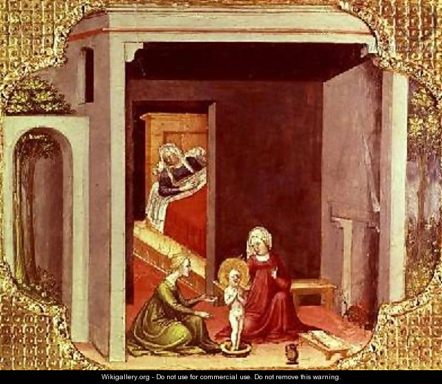 The Birth of St Nicholas - Bicci Di Lorenzo