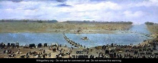 The Crossing of the Santa Lucia River Uruguay 1865 - Candido Lopez