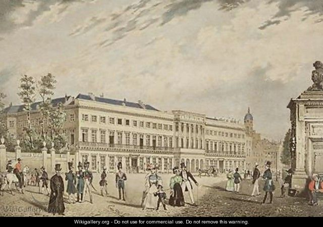 View of the Royal Palace Brussels 1830 - Basile De Loose