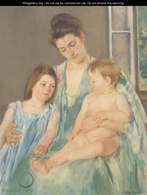 Young Mother And Two Children 1908 - Mary Cassatt