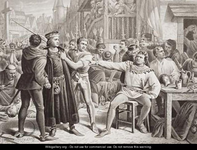 Lord Saye and Sele brought before Jack Cade 4th July 1450 - Charles Lucy