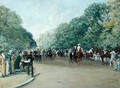 View of Hyde Park with Figures on Rotten Row - Albert Jnr. Ludovici